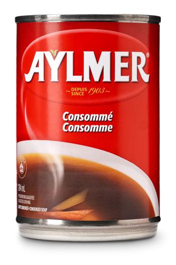 Consomm aylmer mon ingr dient secret - Consomme de boeuf maison ...